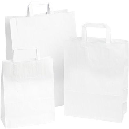 Paper carrying Bags White 320x180x260mm - Horecavoordeel.com