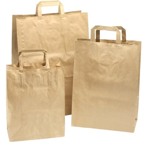 Paper carrying Bags Brown 260x120x350mm - Horecavoordeel.com