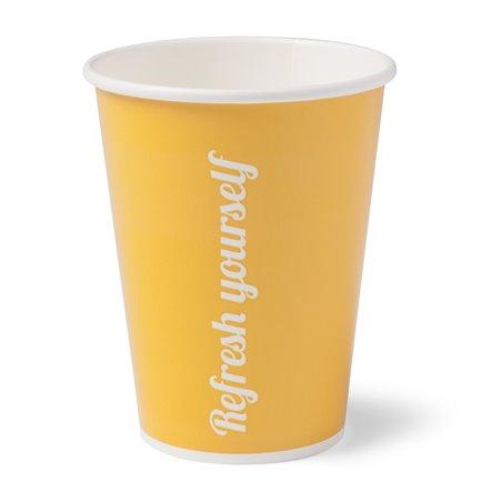 Milkshake Cup 0.3l Krt (90mm) Refresh Yourself yellow (Small package) - Horecavoordeel.com