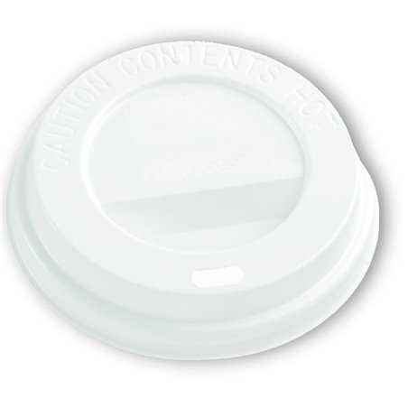 Deksels Wit voor Koffiebekers To Go 8-9oz Ø 80mm Horecavoordeel.com