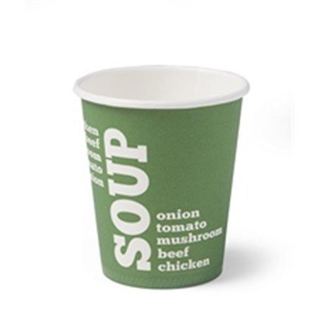 Paper Soup Cup green 250cc-9oz - Horecavoordeel.com