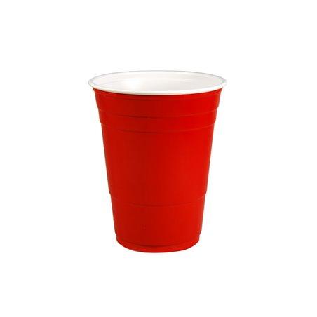 Bekers 473cc 16oz Party Cup Rood Plastic Horecavoordeel.com