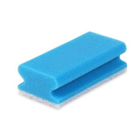 Schuurspons Krasvrij Pro61-1 Blauw/wit 7x15cm Horecavoordeel.com