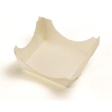 """Houten Bakje Vierkant """"FSC"""" 60 x 60mm (Klein-verpakking) Horecavoordeel.com"""