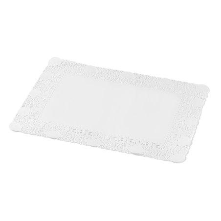 Taartranden Cellulose Wit Rechthoek 180 x 300mm (Klein-verpakking) Horecavoordeel.com