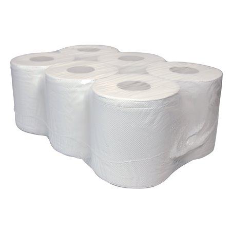 Poetsrol C&C Wit Eco250 Midi Recycled tissue 300 Meter 1 Laags Horecavoordeel.com