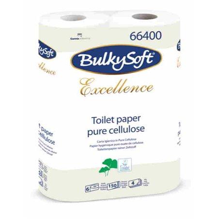 Toiletpapier Bulkysoft cellulose 150 vel 4 Laags Wit Horecavoordeel.com