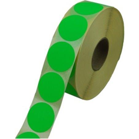 Etiketten - Labels Zelfklevend Groen Permanent Fluor Rond 35mm Horecavoordeel.com