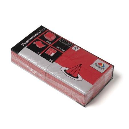 Servetten Rood 2 Laags 1/8 Vouw Fasana 400 x 400mm Horecavoordeel.com