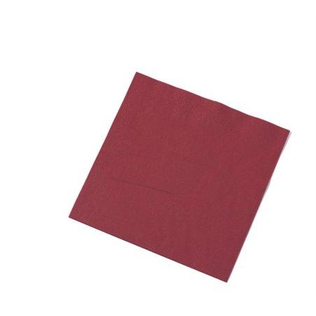 Servetten Bordeaux Rood 2 Laags 1/4 Vouw Fasana 400 x 400mm Horecavoordeel.com