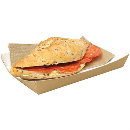 Kartonnen Bakken Bruin Sandwich Bak 160 x 100 x 24mm Horecavoordeel.com
