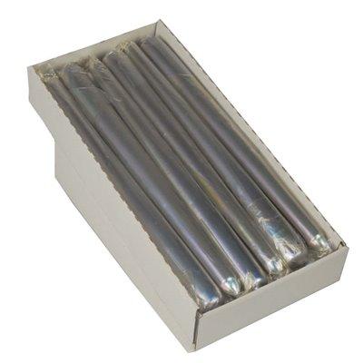 Kandelaarkaarsen Zilver Los Verpakt Ø 22 x 250mm -horecavoordeel.com-